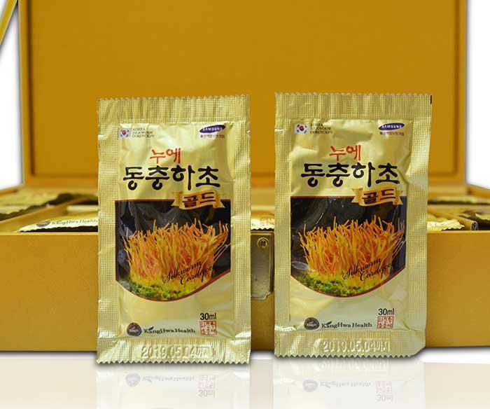 Nước Đông trùng hạ thảo Hàn Quốc hộp gỗ vàng cao cấp D043 4