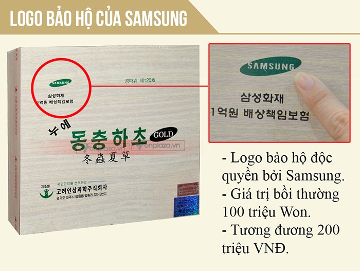 Nước đông trùng hạ thảo Samsung Hàn Quốc hộp gỗ (60 gói x 30ml) D044 2