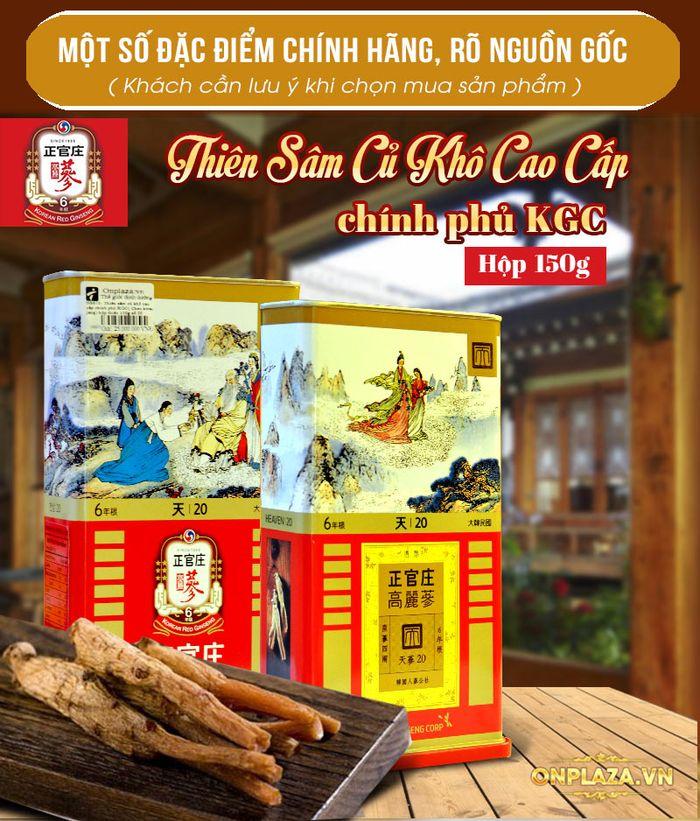 Thiên Sâm củ khô 6 năm tuổi cao cấp Chính Phủ KGC (Cheong Kwan Jang) hộp thiếc 150g số 20 NS673 2