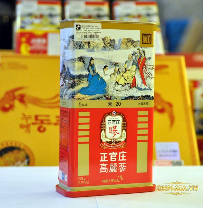 Thiên Sâm củ khô 6 năm tuổi cao cấp Chính Phủ KGC (Cheong Kwan Jang) hộp thiếc 150g số 20 NS673 8