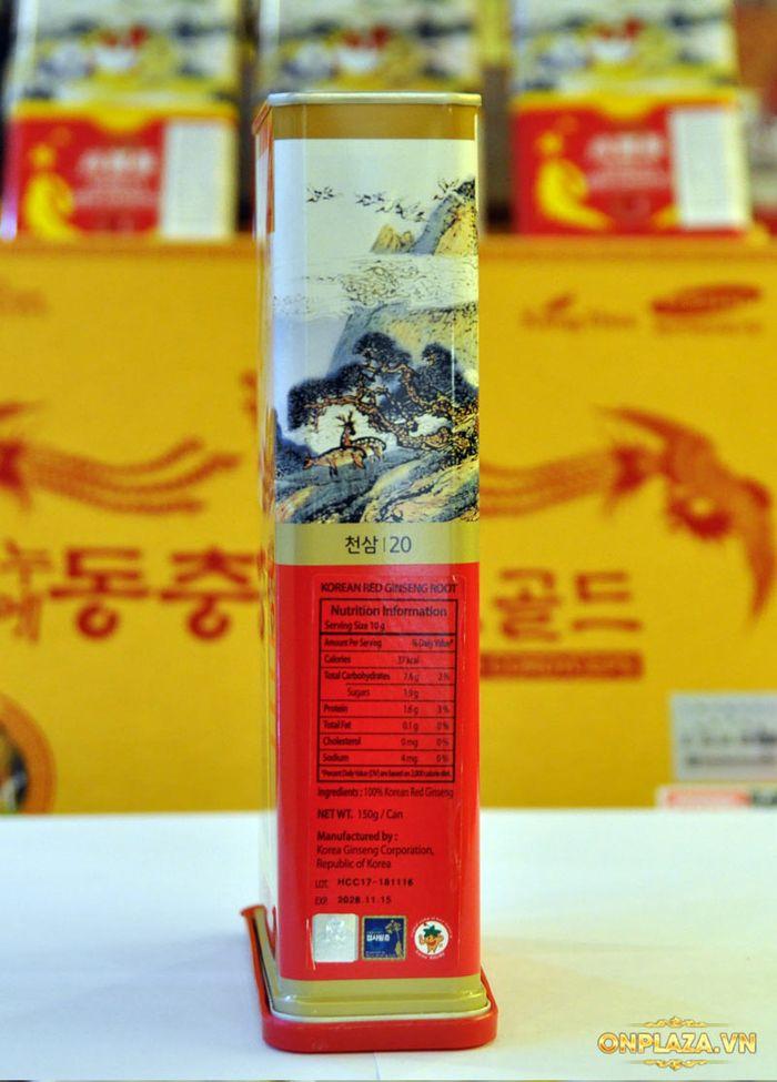 Thiên Sâm củ khô 6 năm tuổi cao cấp Chính Phủ KGC (Cheong Kwan Jang) hộp thiếc 150g số 20 NS673 11