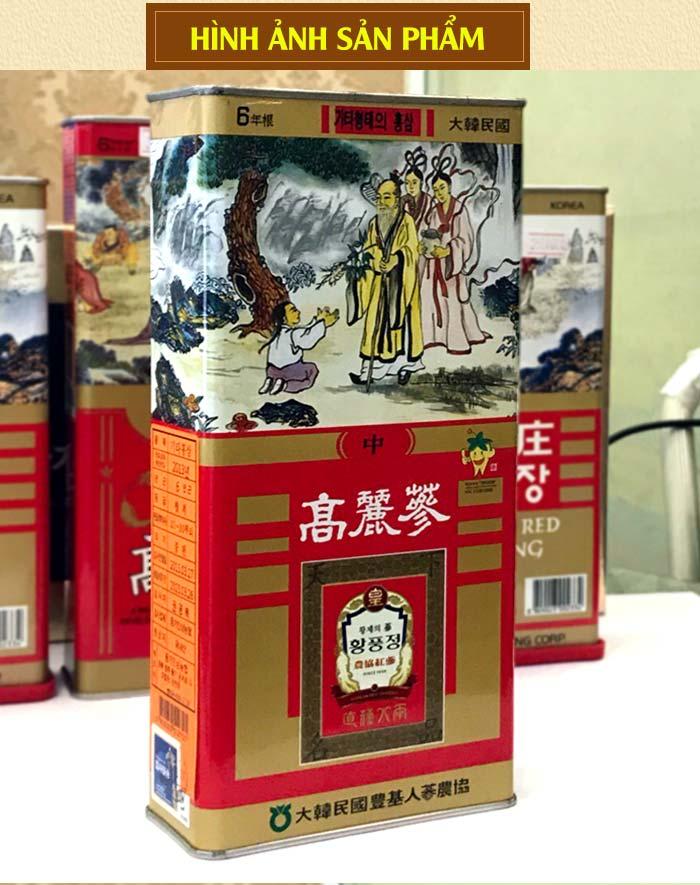 Hồng sâm củ khô Punggi Hàn Quốc hộp thiếc 150g NS613 6