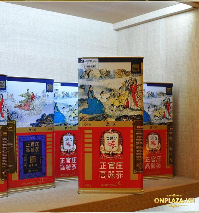 Hồng Sâm Củ Khô Cao Cấp Chính Phủ (Cheong Kwan Jang) KGC Hộp Thiếc 600g (28 củ) Số 20 NS745 14