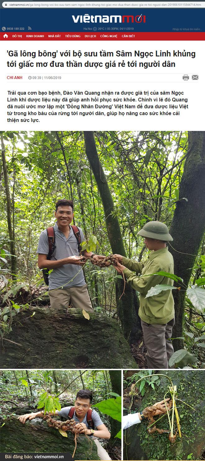 14 năm sưu tầm sâm Ngọc Linh không thể đếm hết những chuyến đi rừng cùng dân bản của anh