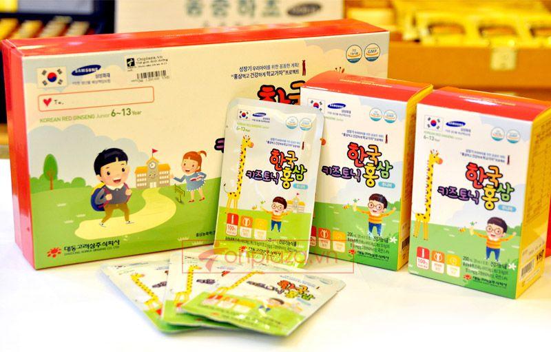 Nước hồng sâm trẻ em Baby Tonic Step cao cấp KGC Cheong Kwan Jang cho bé từ 8-10 tuổi NS677 1