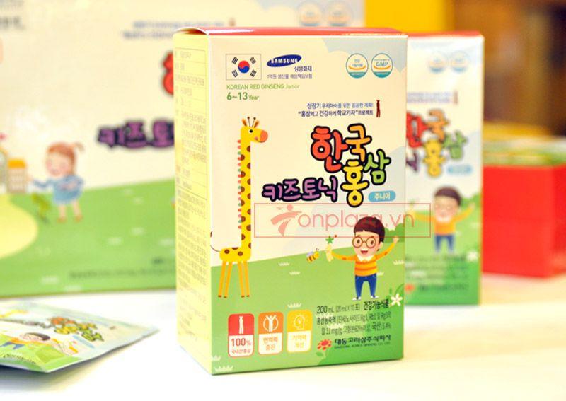 Nước hồng sâm trẻ em Baby Tonic Step cao cấp KGC Cheong Kwan Jang cho bé từ 8-10 tuổi NS677 7
