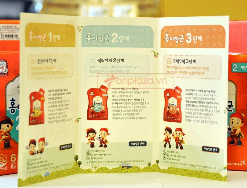 Nước hồng sâm trẻ em cao cấp Baby Tonic Step cho bé KGC 5-7 tuổi NS676 10
