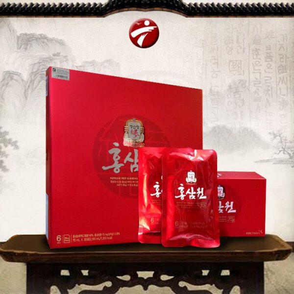 Nước uống hồng sâm chính phủ KGC hộp đỏ 30 gói NS712
