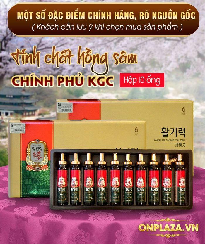 Tinh chất hồng sâm chính phủ KGC Dạng ống - hộp 10 ống NS710 2