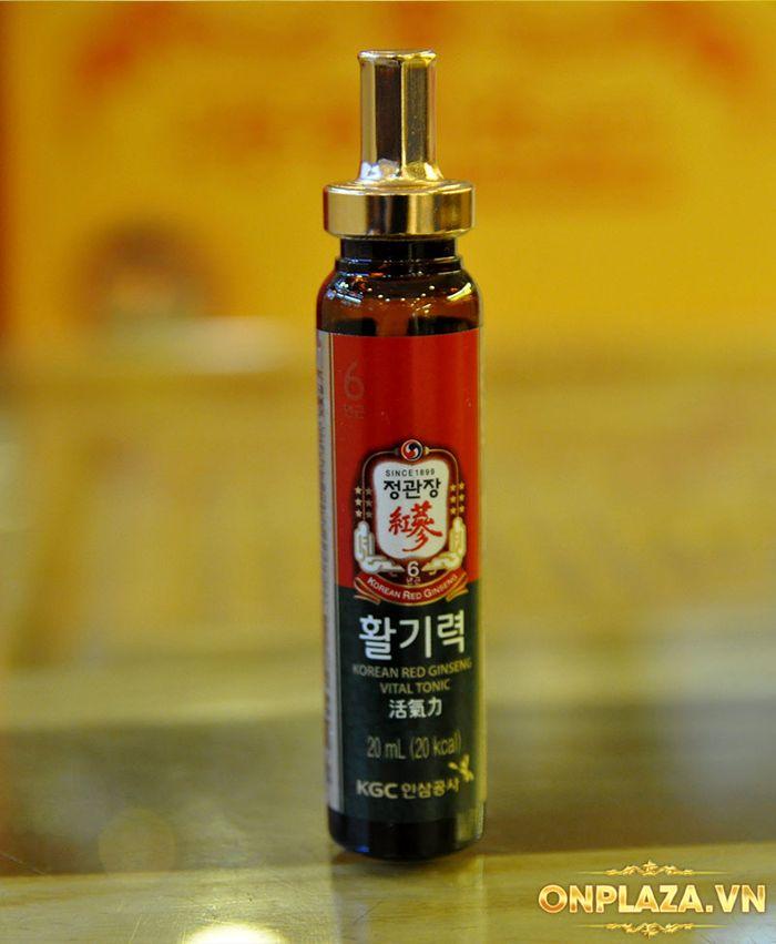 Tinh chất hồng sâm chính phủ KGC Dạng ống - hộp 10 ống NS710 10
