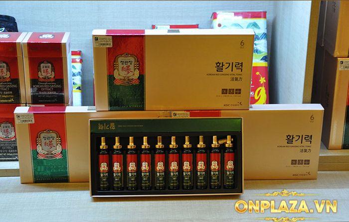 Tinh chất hồng sâm chính phủ KGC Dạng ống - hộp 10 ống NS710 13