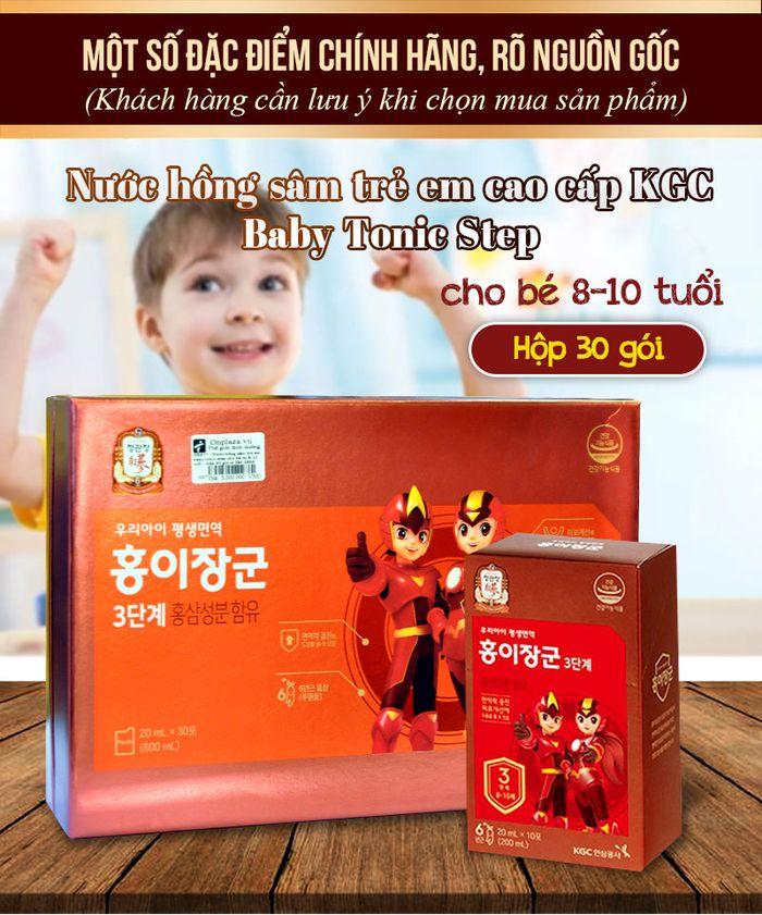 Nước hồng sâm trẻ em Baby Tonic Step cao cấp KGC Cheong Kwan Jang cho bé 8-10 tuổi NS677 1
