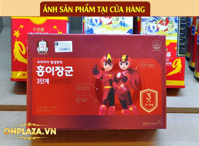 Nước hồng sâm trẻ em Baby Tonic Step cao cấp KGC Cheong Kwan Jang cho bé 8-10 tuổi NS677 5