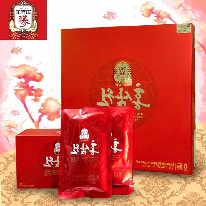 Nước uống hồng sâm chính phủ KGC hộp đỏ 30 gói NS712 1