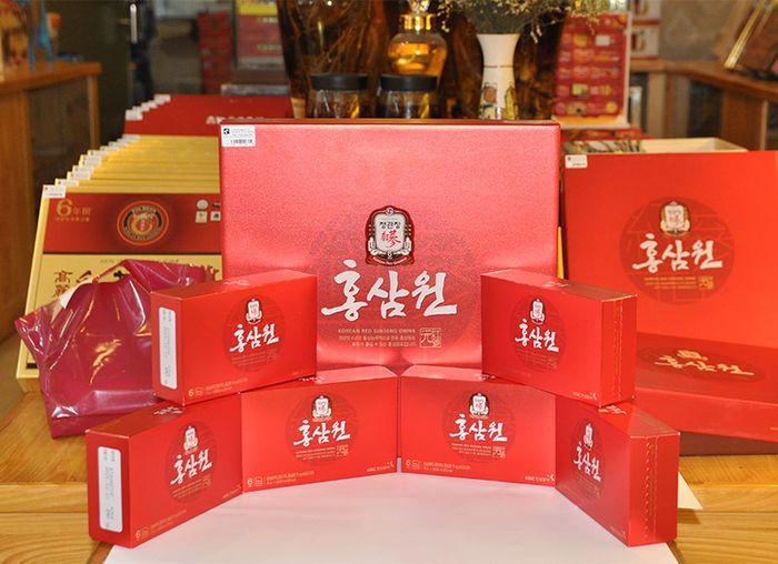 Nước uống hồng sâm chính phủ KGC hộp đỏ 30 gói NS712 7