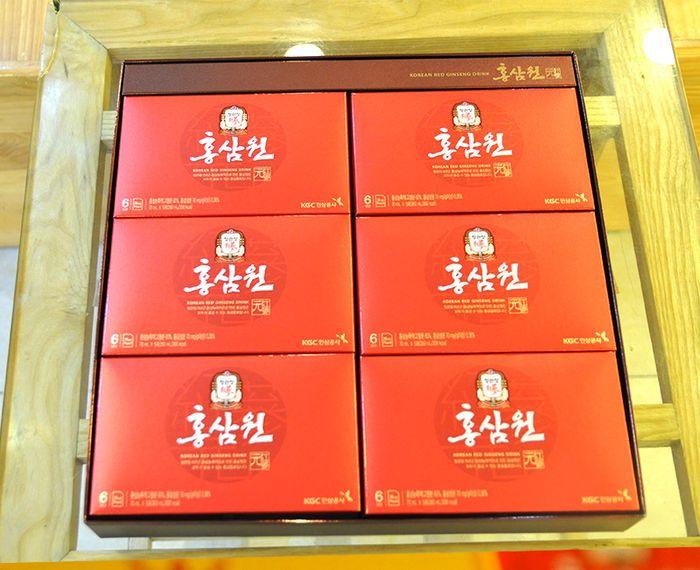 Nước uống hồng sâm chính phủ KGC hộp đỏ 30 gói NS712 10
