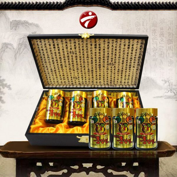 Cao hồng sâm Kanghwa hộp gỗ quà biếu cao cấp loại 4 lọ (250g x 4) NS391