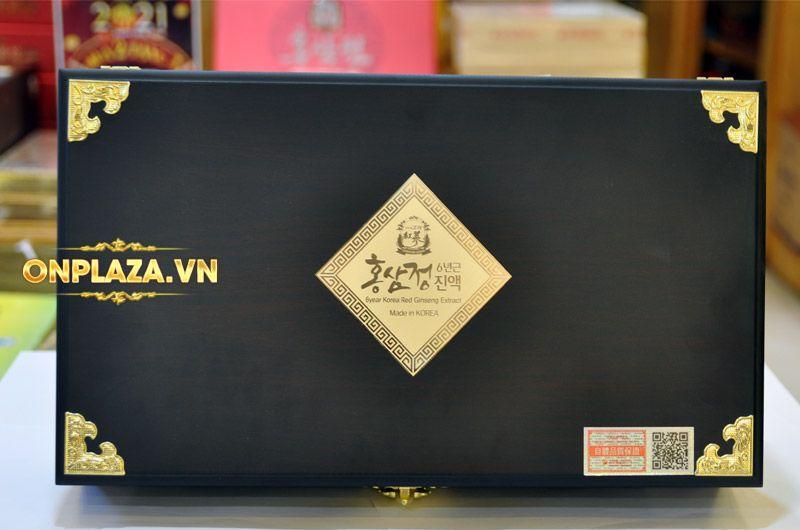 Cao hồng sâm Kanghwa hộp gỗ quà biếu cao cấp loại 4 lọ (250g x 4) NS391 8