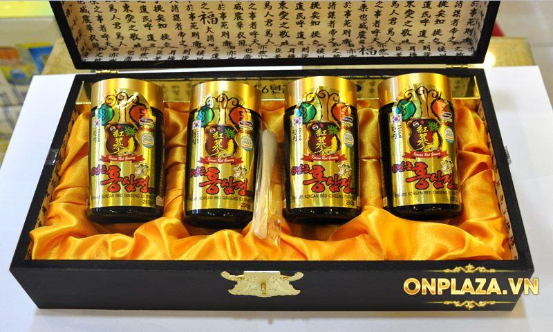 Cao hồng sâm Kanghwa hộp gỗ quà biếu cao cấp loại 4 lọ (250g x 4) NS391 10