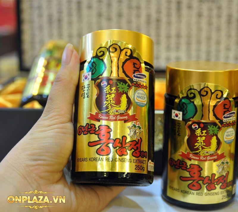 Cao hồng sâm Kanghwa hộp gỗ quà biếu cao cấp loại 4 lọ (250g x 4) NS391 11