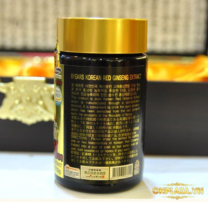 Cao hồng sâm Kanghwa hộp gỗ quà biếu cao cấp loại 4 lọ (250g x 4) NS391 12