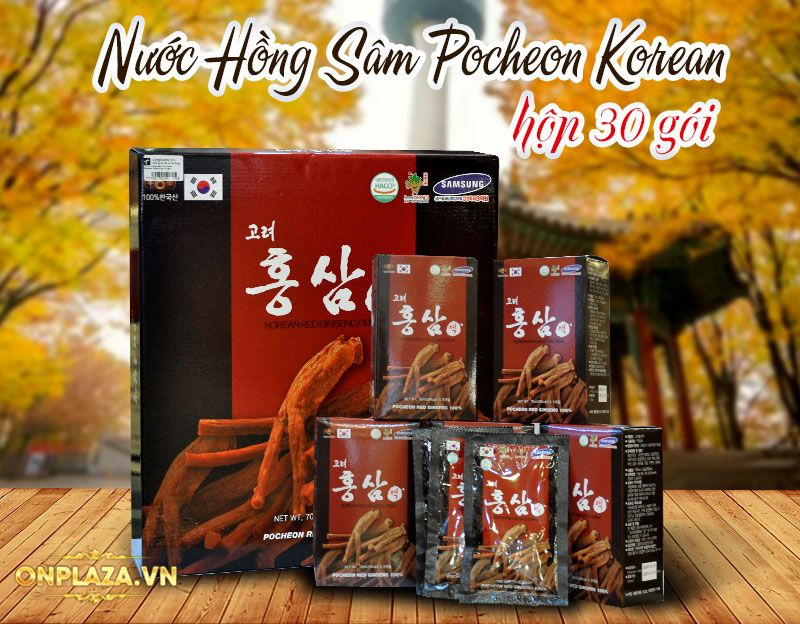 Nước hồng sâm Hàn Quốc Pocheon Korean Drink hộp 30 gói NS838 1