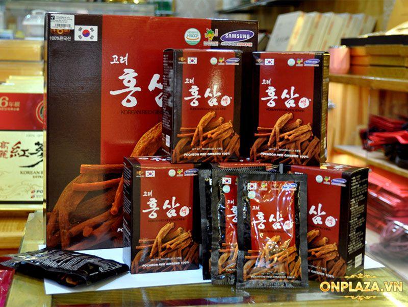Nước hồng sâm Hàn Quốc Pocheon Korean Drink hộp 30 gói NS838 6