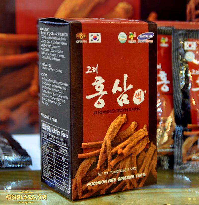 Nước hồng sâm Hàn Quốc Pocheon Korean Drink hộp 30 gói NS838 8