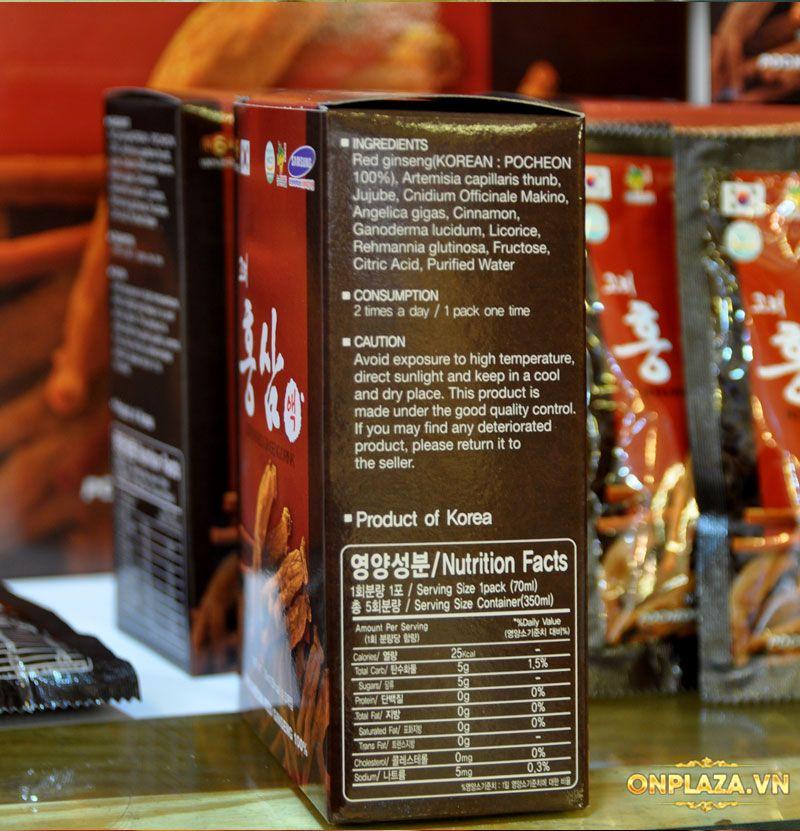 Nước hồng sâm Hàn Quốc Pocheon Korean Drink hộp 30 gói NS838 9