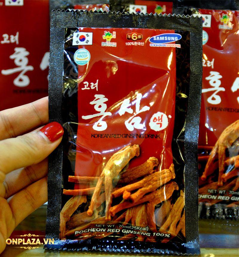 Nước hồng sâm Hàn Quốc Pocheon Korean Drink hộp 30 gói NS838 12